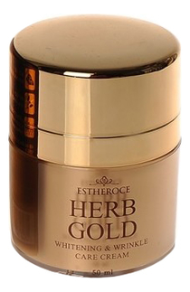 Крем для лица омолаживающий Estheroce Herb Gold Whitening & Wrinkle Care Cream 50мл недорого