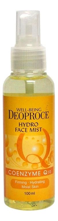 deoproce мист well being hydro Мист для лица увлажняющий Well-Being Hydro Face Mist Coenzyme Q10 100мл