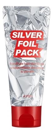 Маска-пленка для упругости кожи лица Silver Foil Pack 60мл