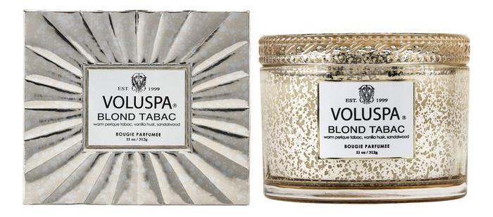 Фото - Ароматическая свеча Blond Tabac (теплый табак): свеча в подарочной коробке 312г ароматическая свеча какао и табак свеча 250г