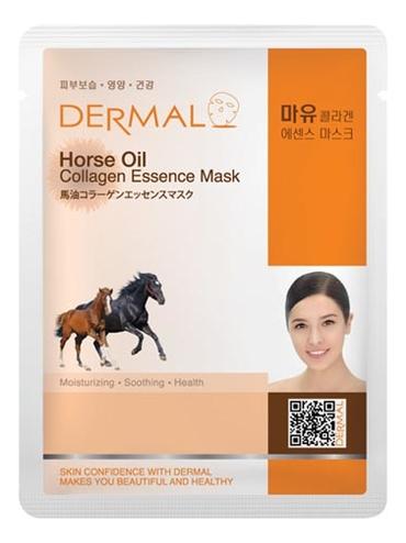Тканевая маска для лица Horse Oil Collagen Essence Mask 23г (лошадиное масло и коллаген) lebelage тканевая маска для лица увлажняющая aqua natural mask 23г