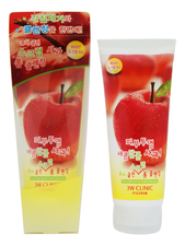 3W CLINIC Пенка-скраб для лица Pure Clean Scrub Foam Cleansing Apple 180мл (яблоко)