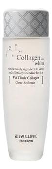 Купить Осветляющий тонер для лица с коллагеном Collagen White Clear Softener 150мл, 3W CLINIC