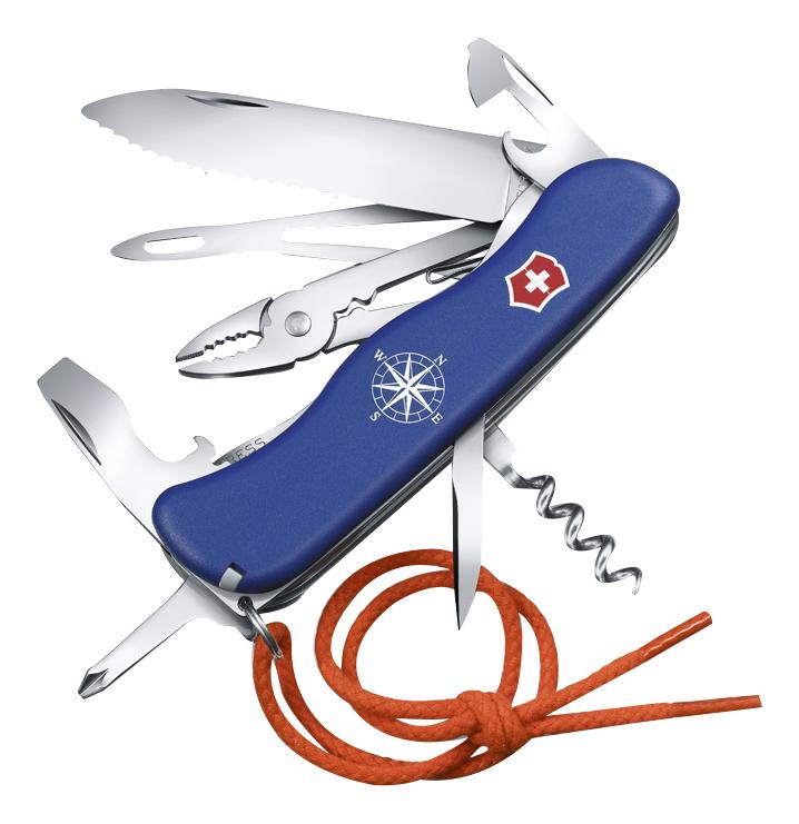 Нож перочинный Skipper 111мм 18 функций (синий), Victorinox  - Купить