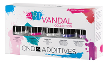 CND Набор пигментов для ногтей Additives Art Vandal Collection Limited Edition (Exhibition 1,43г + Twinkle Pink 1,81г + Confetti Kiss 2,18г + Cobalt Clash 2,02г + Lavender Whispers 1,86г)