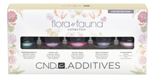CND Набор пигментов для ногтей Additives Flora & Fauna Collection Limited Edition (Hydrangea Bloom + Dream Lily + Nectar Glaze + Silver Ponyfoot + Hummingbird)