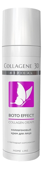 Купить Коллагеновый крем для лица с пептидным комплексом Syn-Ake Boto Effect Collagen Cream Home Line 30мл, Medical Collagene 3D