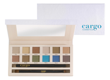 Cargo Cosmetics Набор Land Down Under Eye Shadow Palette (тени д/век 10г +кисть д/теней + карандаш д/глаз)