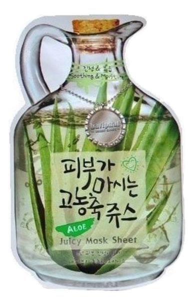 Купить Маска тканевая для лица Aloe Juicy Mask Sheet Soothing & Moisturizing 23г (алоэ), Маска тканевая для лица Aloe Juicy Mask Sheet Soothing & Moisturizing 23г (алоэ), Baviphat