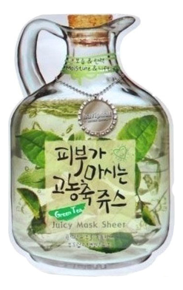 Купить Маска тканевая для лица Green Tea Juicy Mask Sheet Moisture & Lifting 23г (зеленый чай), Маска тканевая для лица Green Tea Juicy Mask Sheet Moisture & Lifting 23г (зеленый чай), Baviphat