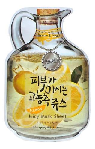 Купить Маска тканевая для лица Lemon Juicy Mask Sheet Sebum & Vital 23г (лимон), Маска тканевая для лица Lemon Juicy Mask Sheet Sebum & Vital 23г (лимон), Baviphat
