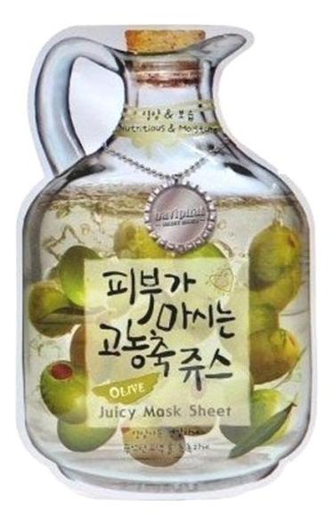 цена на Маска тканевая для лица Olive Juicy Mask Sheet Nutrition & Moisturizing 23г (олива)