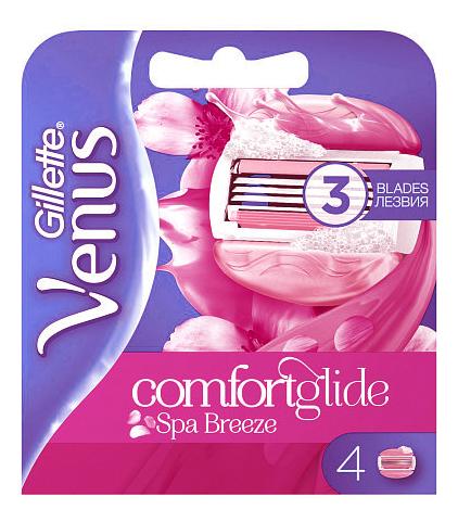Фото - Сменные лезвия Venus ComfortGlide SPA Breeze 4шт gillette venus breeze 4 шт