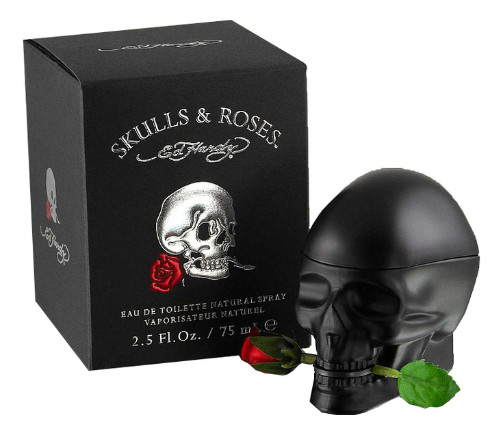 Christian Audigier Ed Hardy Skulls & Roses for Him: туалетная вода 75мл christian audigier ed hardy villain for men туалетная вода 125мл