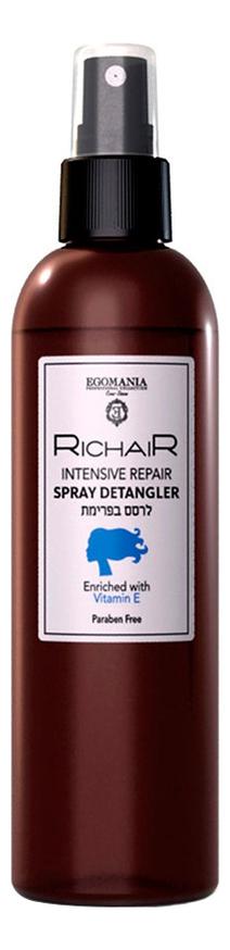 Фото - Спрей-кондиционер для облегчения расчесывания волос Активное восстановление Richair Intensive Repair Spray Detangler 250мл кондиционер для интенсивного восстановления волос intensive repair conditioner 250мл
