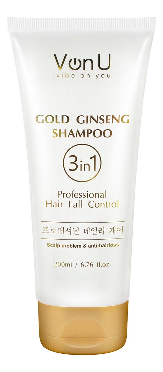 Шампунь для волос с экстрактом золотого женьшеня Ginseng Gold Shampoo 200мл