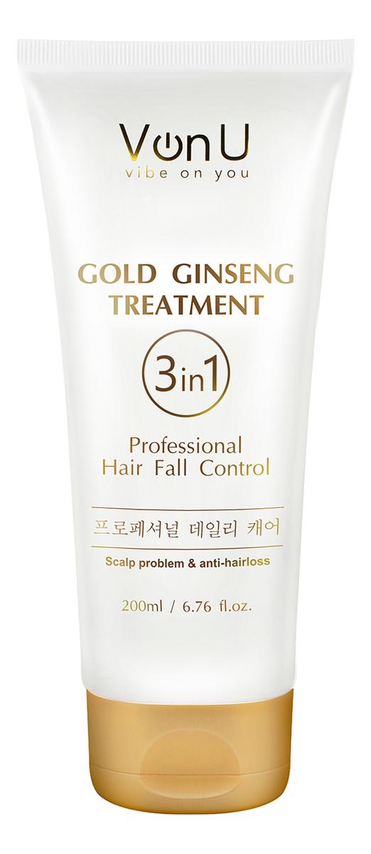 Уход для волос с экстрактом золотого женьшеня Ginseng Gold Treatment 200мл
