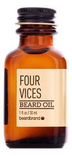 Beardbrand Масло для бороды Four Vices Beard Oil 30мл