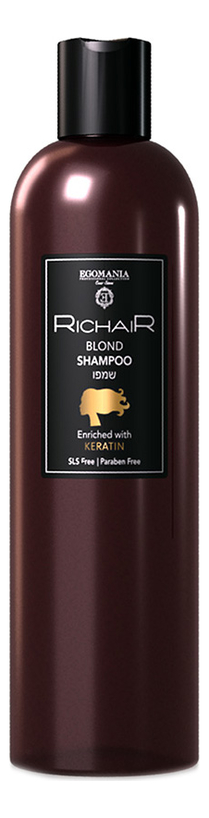 Фото - Шампунь для осветленных и обесцвеченных волос Richair Blond Shampoo 400мл egomania шампунь richair blond для осветлённых и обесцвеченных волос 400 мл