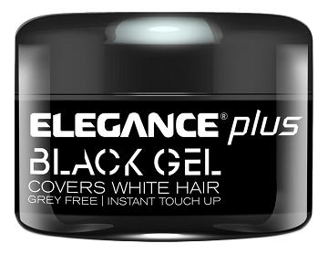 Гель для окрашивания седых волос Plus Covers White Hair Black Gel: 100мл