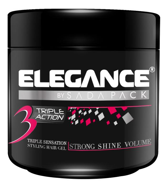 Гель для укладки волос тройного действия Triple Action Hair Gel Pink: 500мл
