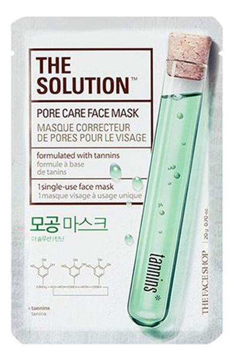 Тканевая маска для лица The Solution Pore Care Face Mask 20г