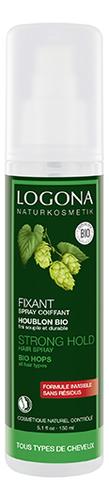 Купить Натуральный фиксирующий спрей-лак для волос с экстрактом хмеля Strong Hold Hair Spray 150мл, Logona