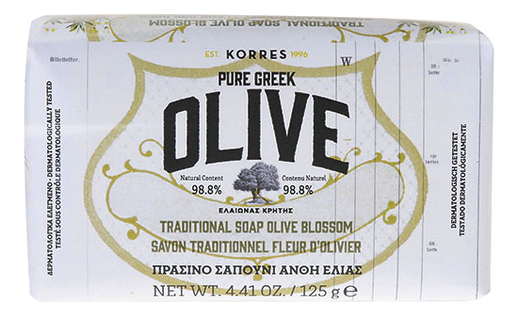 Мыло для рук и тела цветы оливы Pure Greek Olive Traditional Soap Blossom 125г
