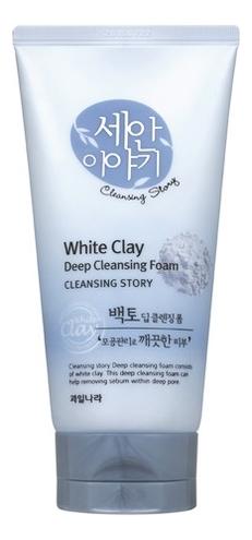 Пенка для умывания Cleansing Story White Clay Deep Foam 150г