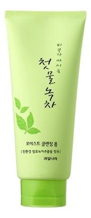 Пенка для умывания с экстрактом зеленого чая Green Tea Moist Cleansing Foam 180г пенка для умывания с экстрактом зеленого чая green tea ph clear foam cleanser 150мл