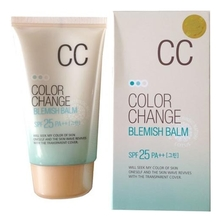 Welcos CC крем Lotus Color Change Blemish Balm SPF25 PA+++ 50мл