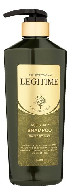 Фото - Шампунь для волос укрепляющий Legitime Age Scalp Shampoo 520мл укрепляющий шампунь для ослабленных волос age defying argan stem cell shampoo 340мл шампунь 340мл