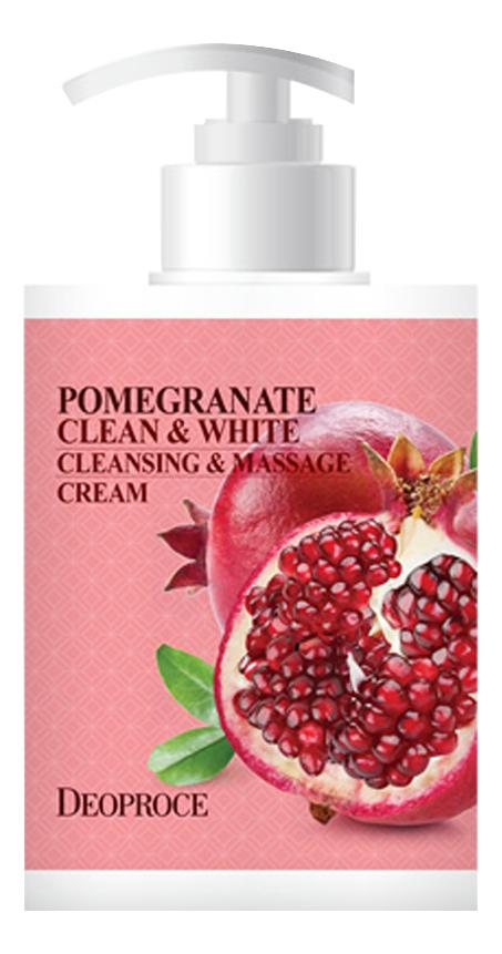 Купить Очищающий крем для тела массажный с экстрактом граната Pomegranate Clean & White Cleansing & Massage Cream 450мл, Очищающий крем для тела массажный с экстрактом граната Pomegranate Clean & White Cleansing & Massage Cream 450мл, Deoproce