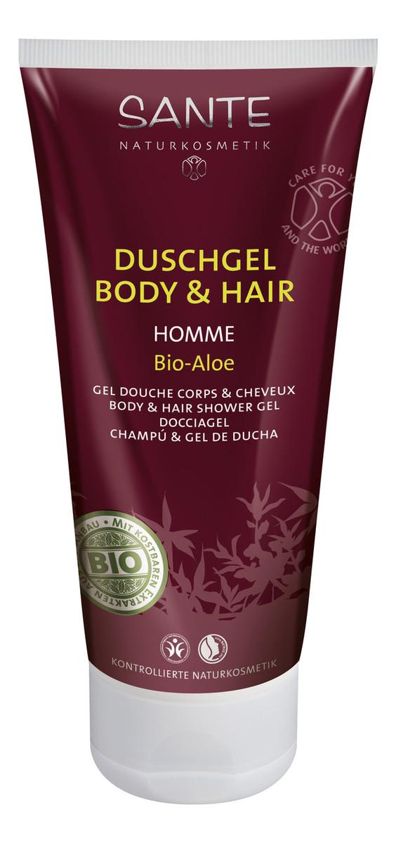 Фото - Шампунь-гель для волос и тела Homme Duschgel Body & Gel Bio-Aloe 200мл гель для тела от растяжек phytolastil gel prevention des vergetures гель 200мл