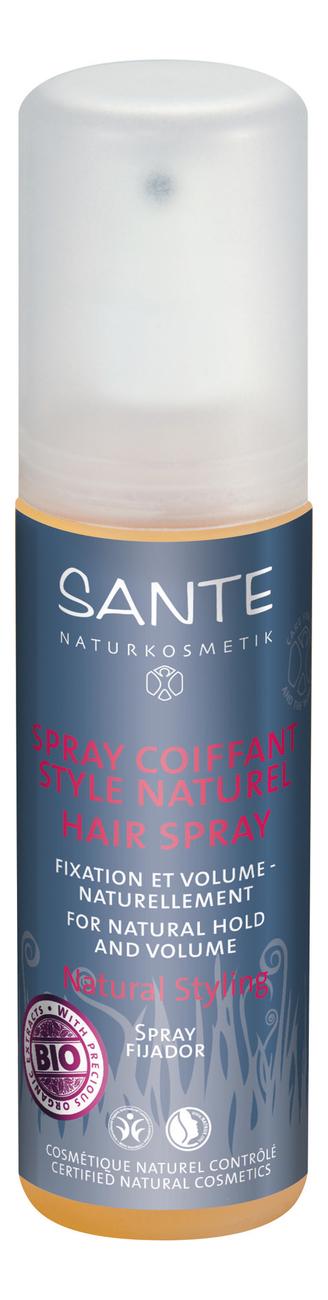 Купить Спрей для объема и натуральной фиксации волос Spray Coiffante Style Naturel Hair Spray 150мл, Sante