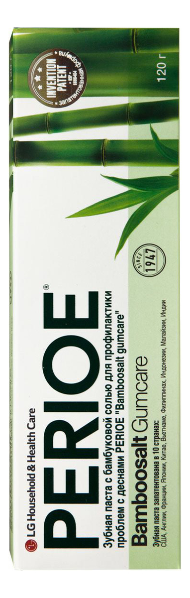 Зубная паста с бамбуковой солью для профилактики проблем с деснами Bamboosalt Gumcare 120г