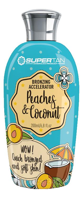 Бронзирующий ускоритель загара в солярии Peaches & Coconut Cream Bronzing Accelerator (персик и кокосовые сливки): Крем 200мл