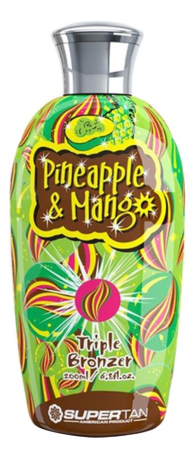 Бронзирующий ускоритель загара в солярии Pineapple & Mango Triple Bronzer (ананас и манго): Крем 200мл фото