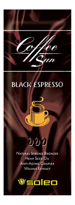 Купить Крем-бронзатор для загара с маслом ши и кофеином Coffee Sun Black Espresso Natural Strong Bronzer: крем 15мл, Soleo