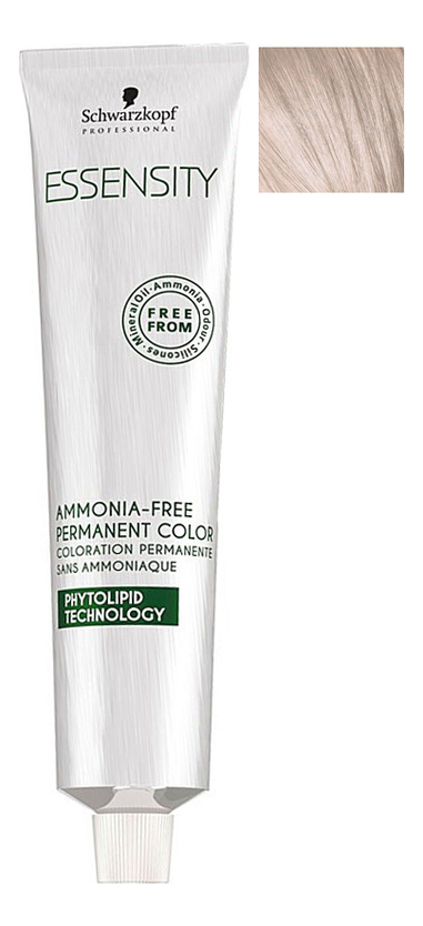 Крем-краска для волос без аммиака Essensity Ammonia-Free Permanent Color 60мл: 10-19 Ultra Light Blonde Ash Violet