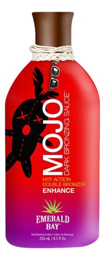 Разогревающий крем для загара в солярии Mojo Dark Bronzing Sauce: Крем 250мл