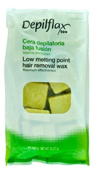 Горячий воск для гиперчувствительной кожи средней плотности Low Melting Point Hair Removal Wax 1000г (аргана)