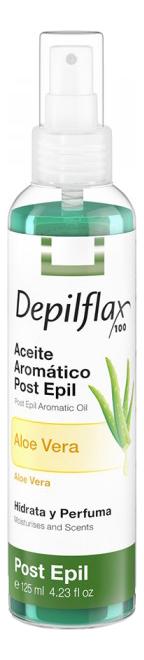 Купить Увлажняющее масло с алоэ вера для удаления остатка воска Aloe Vera Post Epil Aromatic Oil 125мл, Depilflax