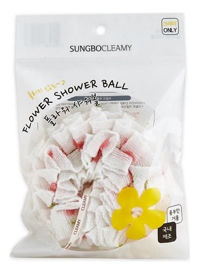 Купить Мочалка для душа Clean & Beauty Flower Shower Ball (цвет в ассортименте), Мочалка для душа Clean & Beauty Flower Shower Ball (цвет в ассортименте), Sung Bo Cleamy