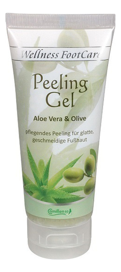 Пилинг-гель для ног с экстрактом алоэ вера и оливы Wellness FootCare Peeling Gel Aloe Vera & Olive: Пилинг-гель 100мл пилинг гель lazy