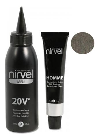 Купить Мужская крем-краска для седых волос Color Homme Cream 2*30мл (краситель + окислитель): G-7 Light Grey, Nirvel Professional