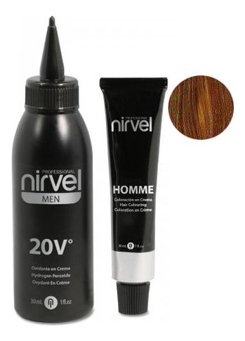 Купить Мужская крем-краска для седых волос Color Homme Cream 2*30мл (краситель + окислитель): CT-7 Light Brown, Nirvel Professional