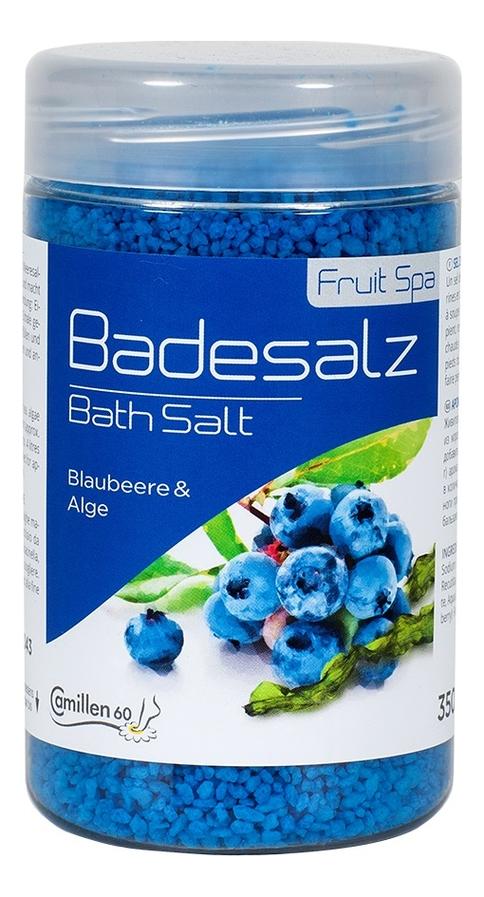 Соль для ножных ванн укрепляющая Черника и водоросли Badesalz Blaubeere-Alge: Соль 350г соль для ножных ванн расслабляющая киви и мелисса badesalz kiwi melisse соль 1350г
