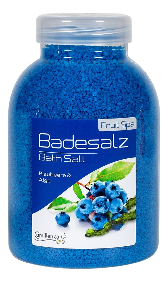 Соль для ножных ванн укрепляющая Черника и водоросли Badesalz Blaubeere-Alge: Соль 1350г соль для ножных ванн расслабляющая киви и мелисса badesalz kiwi melisse соль 1350г