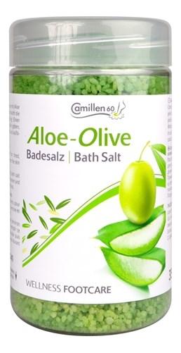 Соль для ножных ванн Алоэ вера и олива Wellness FootCare Badesalz Aloe Vera & Olive: Соль 350г соль для ножных ванн расслабляющая киви и мелисса badesalz kiwi melisse соль 1350г